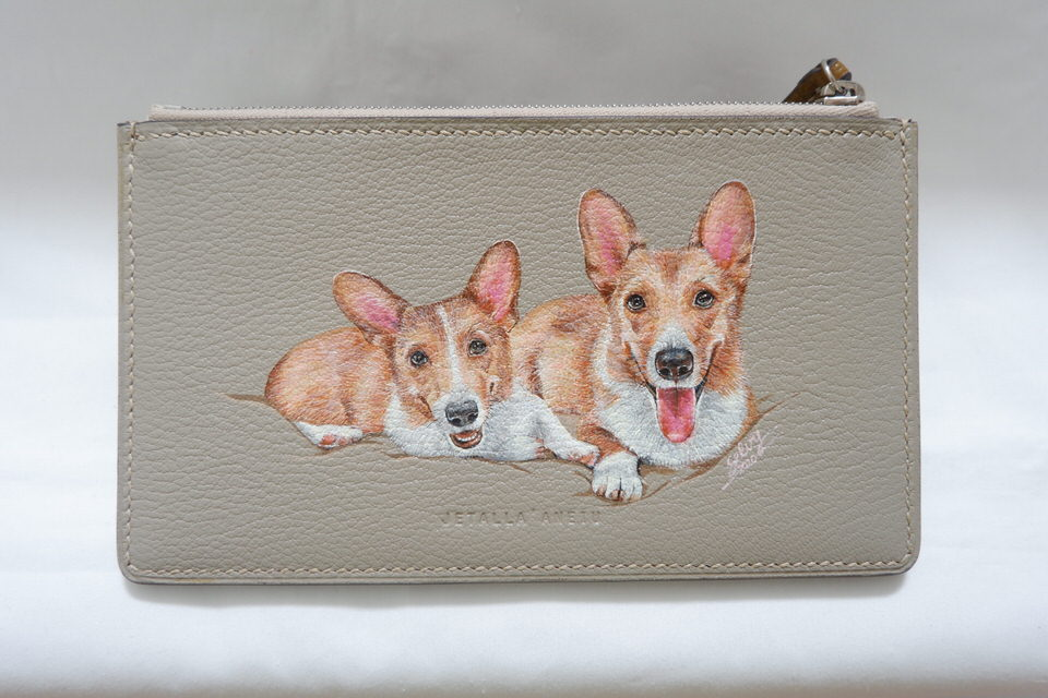 leather-painting-corgy-wallet-photo-custom