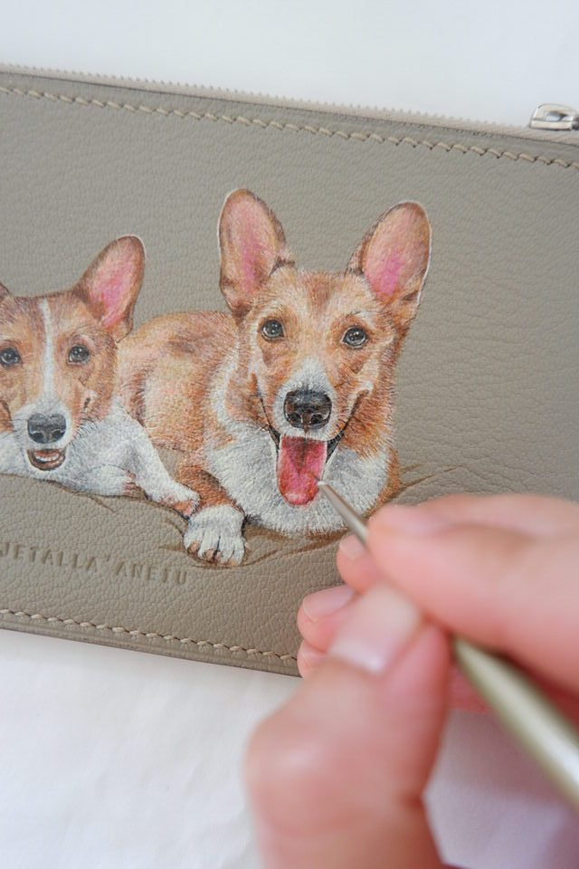 leather-painting-corgy-wallet