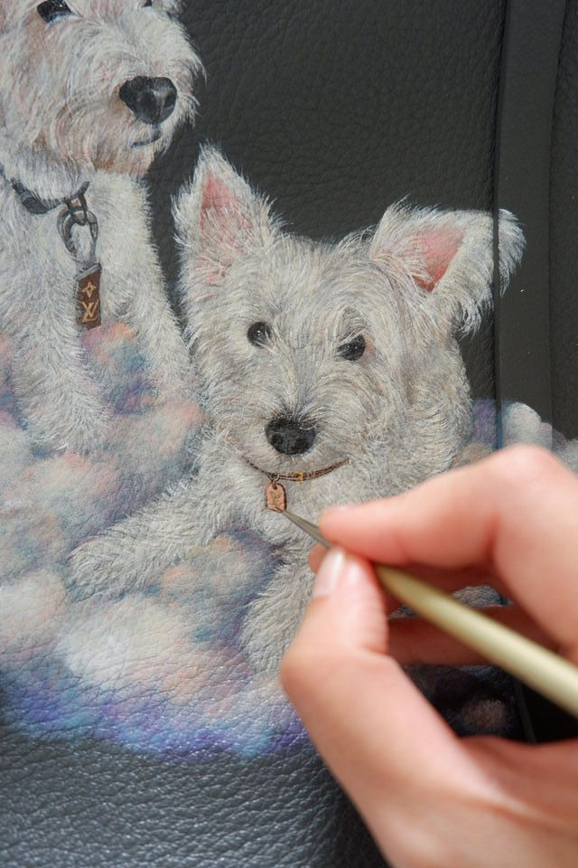 leather-painting-white-dog